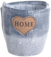 Кашпо керамическое Home in love 15х15 см серый