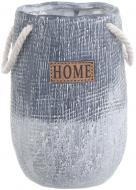 Кашпо керамическое Hommy 13х20 см серый
