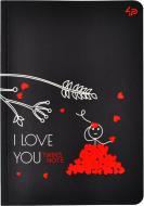Блокнот Twins series love you А6 40 арк. Profiplan