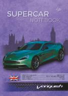Блокнот Supercar series green A5 40 арк. Profiplan