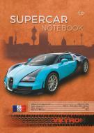 Блокнот Supercar series blue A5 40 арк. Profiplan