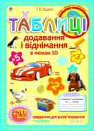 Плакат Тетяна Богданівна Будна «Таблиці додавання і віднімання в межах 10: Зошит-посібник з плакатом і наклейками» 978-966