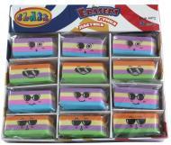 Гумка для олівців 4972 різнокольорова Stripes CLASS