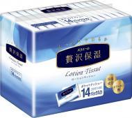 Носові хустинки у коробці Elleair екстразаспокійливі PREMIUM LOTION 14 уп. 14 шт.