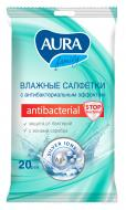 Вологі серветки Aura Antibacterial 20 шт.