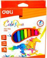 Фломастери Color Run 12 шт. EС10100 Deli