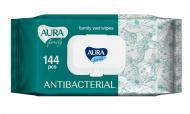 Вологі серветки Aura Antibacterial 144 шт.