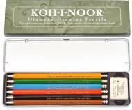 Набір олівців цангових Diamond Pencils 6 шт Koh-i-Noor