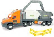 Автомобіль Wader Super Tech Truck з будівельними контейнерами