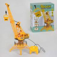 Кран на дистанционном управлении с подсветкой Small Toys QF323 Желтый (2-81960A)