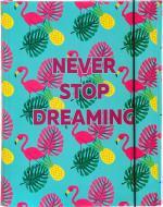 Папка для праці Never Stop Dreaming А4 бірюзова iTEM