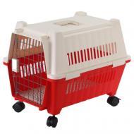 Переноска AnimAll для котов и собак 70х49х56 см, красная