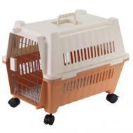 Переноска AnimAll для котов и собак 70х49х56 см, оранжевая