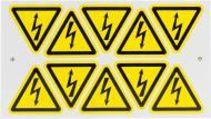 Наклейка Обережно! Електрична напруга 50 мм 10 шт.