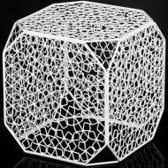 Подставка декоративная Куб №5 А белая 300x300x300мм TRID HOUSE