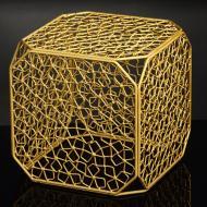 Підставка декоративна Куб №6 А золото 350x350x350мм TRID HOUSE