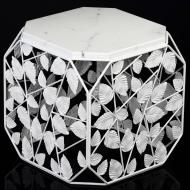 Стол журнальный Куб №7 В мрамор/белый 350x350x370мм TRID HOUSE