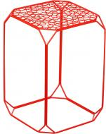 Подставка декоративная красная Прямоугольник №2 А 300x300x450мм TRID HOUSE