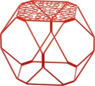 Подставка декоративная красная Многогранник №1 А 300x300x300мм TRID HOUSE