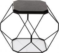 Стол журнальный Многогранник №2 черный гранит/черный 360x360x380мм TRID HOUSE