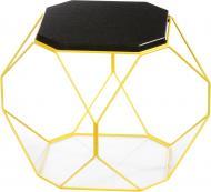 Стол журнальный Многогранник №3 черный гранит/желтый 400x400x420мм TRID HOUSE