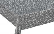Клейонка на стіл 140х20х0,18 мм HD5044 silver