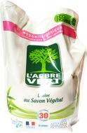 Гель для машинного прання L'Arbre Vert Запасний блок Рослинне мило 30 використань 2 л