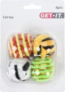 Набор игрушек мячи для кошек 4 шт.