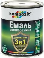 Емаль Kompozit антикорозійна 3 в 1 чорний шовковистий мат 0,75кг