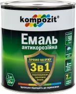 Емаль Kompozit антикорозійна 3 в 1 чорний шовковистий мат 2,7кг