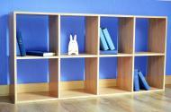 Шафа Inteo для книг Кубус 2х4 (16 мм) 1432x724x290 мм дуб сонома