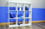 Стелаж Inteo в дитячу кімнату Кубус 3х3 (16 мм) 1078x1078x290 мм білий