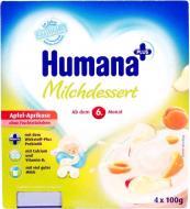 Кисломолочний продукт Humana з яблуком, абрикосом та натуральними пребіотиками 4x100 г (4031244701114)