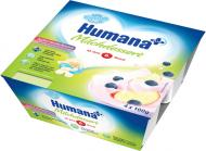 Кисломолочний продукт Humana з яблуком і чорницями 4x100 г (4031244701107)