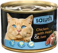 Корм Salutis Real Meat курячий із серцем та печінкою 190 г 54663
