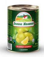 Оливки Долина желаний з лимоном 300 мл 260 г