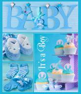 Фотоальбом 10x15 см на 56 фото BKM4656 Baby collage blue EVG