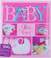 Фотоальбом 10x15 см на 56 фото BKM4656 Baby collage pink EVG