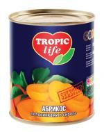 Абрикоси Tropic Life половинками в сиропі 850 мл 820 г