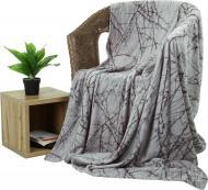 Плед Flannel Гілочка 160x200 см сірий La Nuit