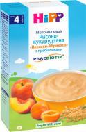 Каша молочна Hipp від 4 місяців рисово-кукурудзяна «Персики-Абрикоси» з пребіотиками 250 г