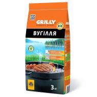 Уголь GRILLY древесный 3 кг
