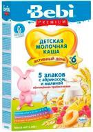 Bebi Premium 5 злаков с малиной и абрикосом с 6 месяцев 200 г