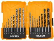 Набор сверл Tolsen дерево-металл-кирпич / бетон 2-10 мм 16 шт. 75628