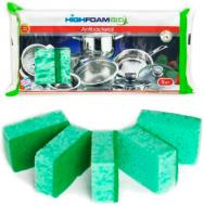 Губка для миття посуду ІнтерФом Antibacterial 5 шт.