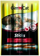 Ласощі Gimpet GimCat м'ясні палички індичка і дріжджі 4 шт.