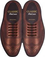 Шнурки силіконові AntiLaces Classic CBR30 коричневий