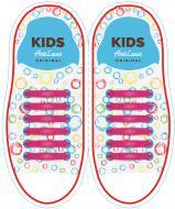 Шнурки силіконові AntiLaces Classic KP38 рожевий