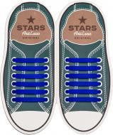 Шнурки силіконові AntiLaces Classic SBL синій