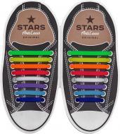 Шнурки силіконові AntiLaces Classic SRBW мульті